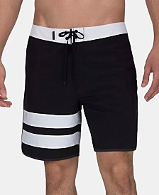 "Hurley Men's Phantom Black Stripe 18"" Board Shorts"