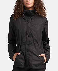 DKNY Hooded Zip-Front Jacket