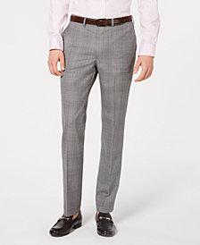 DKNY Men's Modern-Fit Plaid Pants