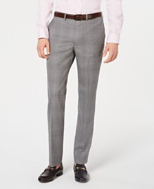 DKNY Men's Modern-Fit Plaid Pants
