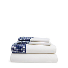 Lauren Ralph Lauren Nicola Basket-Weave King Sheet Set