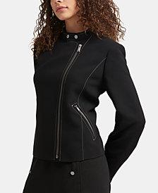 DKNY Asymmetrical Moto Jacket, Created for Macy's