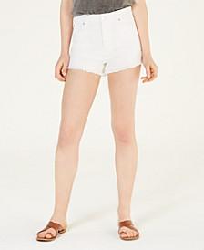 Juniors' High-Rise Mom Denim Shorts