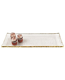 Gold Edge Rectangle Platter 18x6.5""