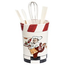 Lorren Home Trends Chef Ceramic Utensil Holder
