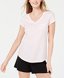 V-Neck Patch-Pocket T-Shirt, Created for Macy's