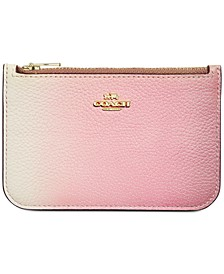 Ombre Leather Zip Card Case