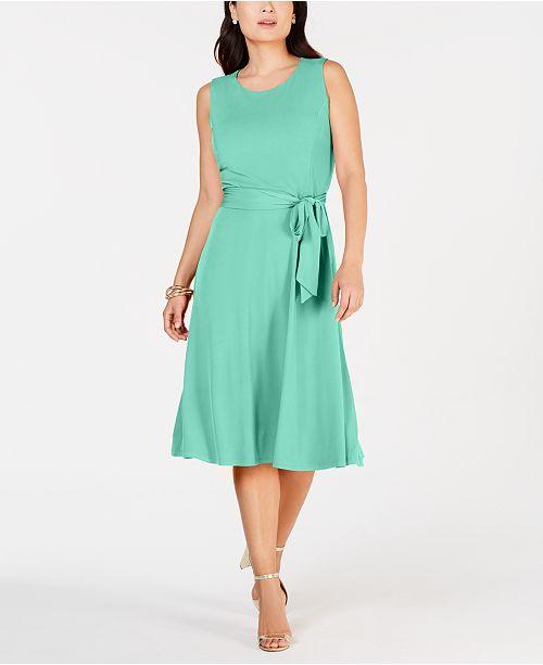 1d48f6f5ef ... Charter Club Tie-Waist Midi Dress