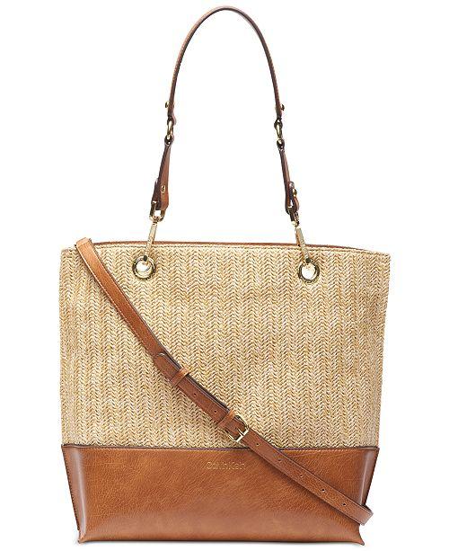 799cb06425d0 Calvin Klein Sonoma Straw Tote & Reviews - Handbags & Accessories ...