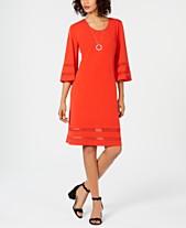JM Collection Petite Mesh-Inset Sheath Dress 13554bcd146b