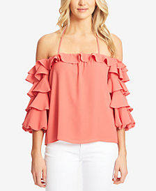 1.STATE Tiered Ruffled Top