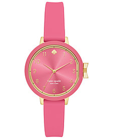 kate spade new york Women's Park Row Pink Silicone Strap Watch 34mm