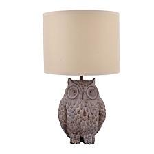 Owl Lamp w/Shade