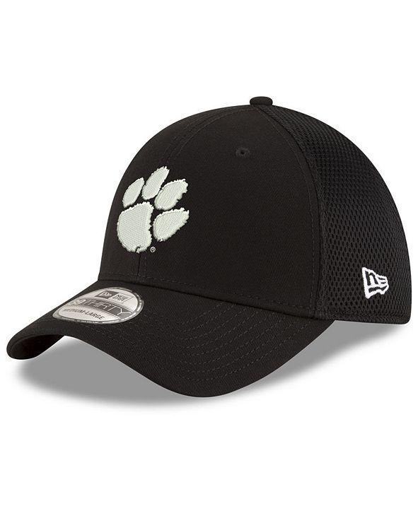 New Era Clemson Tigers Black White Neo 39THIRTY Cap
