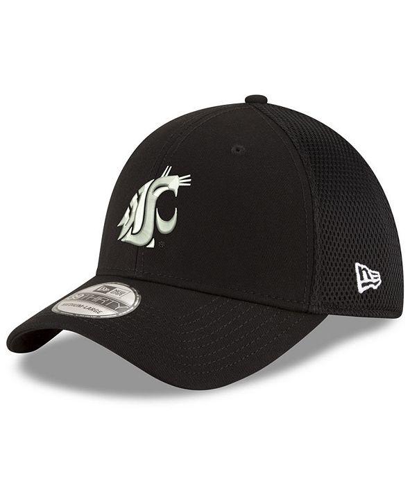 New Era Washington State Cougars Black White Neo 39THIRTY Cap