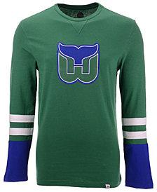 Majestic Men's Hartford Whalers 5 Minute Major Long Sleeve T-Shirt