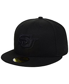 Southern Jaguars Core Black on Black 59FIFTY Fitted Cap
