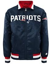 G-III Sports Men s New England Patriots Starter Captain II Satin Jacket f0fdc346d