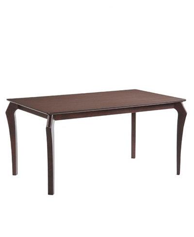 Arc Mid Century Wenge Solid Wood Dining Table
