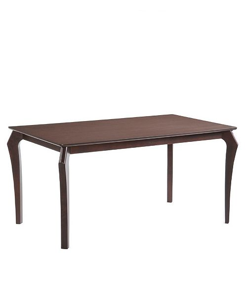 New Spec Inc Arc Mid Century Wenge Solid Wood Dining Table