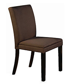 New Spec Traditional Fabric Dining Chair Set of 2 Pieces