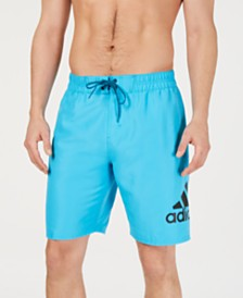 "Adidas Men's Logo Mania 9"" Swim Trunks, Created for Macy's"