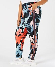 Plus Size Printed Track Pants