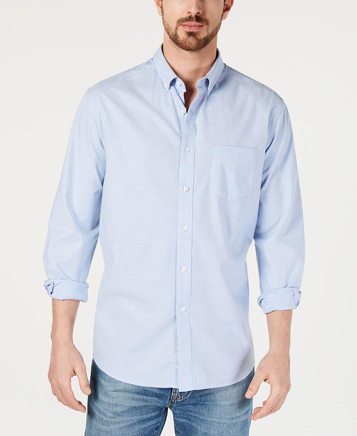 Club Room - Men's Solid Oxford Cotton Shirt