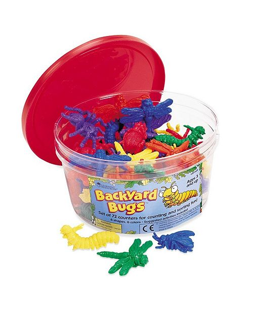 Learning Resources Backyard Bugs Counters Set 72 Pieces