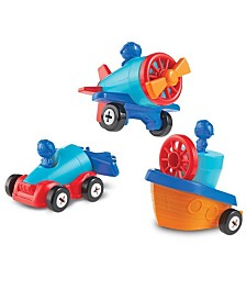 Learning Resources 1-2-3 Build It Car Boat Plane 15 Pieces