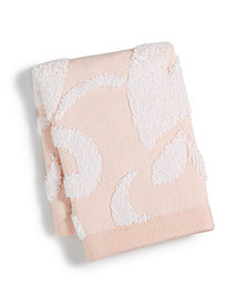 """Martha Stewart Collection Terry Damask Cotton 13"""" x 13"""" Wash Towel, Created for Macy's"""