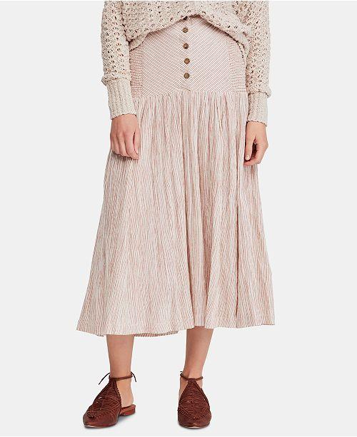 Free People Ocean Eyes Cotton Maxi Skirt