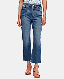 Free People High-Rise Raw-Hem Cropped Jeans