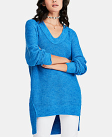 Free People Sunday Drop-Hem Sweater