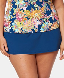 Bleu By Rod Beattie Plus Size Swim Skirt