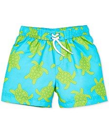 Little Me Turtle Baby Boys Swim Trunks