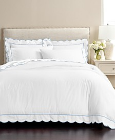 CLOSEOUT! Martha Stewart Signature Scallop 3-Pc. Full/Queen Duvet Sets, Created for Macy's