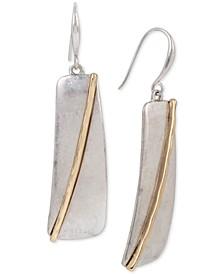 Two-Tone Geometric Drop Earrings