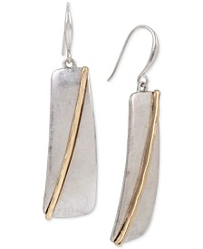 Robert Lee Morris Soho Two-Tone Geometric Drop Earrings
