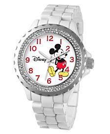 Disney Mickey Mouse Women's White Alloy Enamel Spark Watch