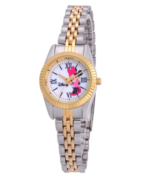 Disney Minnie Mouse Women's Two Tone Silver and Gold Alloy Watch