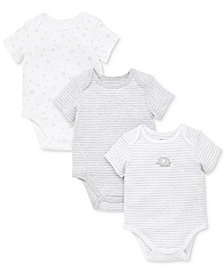 Little Me Baby Boys 3-Pack Cotton Bodysuits