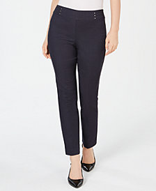 JM Collection Petite Tummy-Control Pants, Created for Macy's