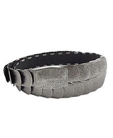 Fashion Focus Accessories Textured Stretch Metal Belt