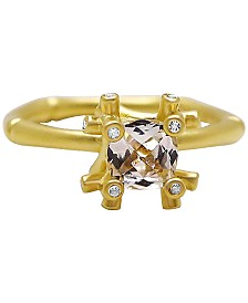 Kesi Jewels White Topaz (1-1/4 ct. t.w.) & Diamond Accent Ring in 14k Gold