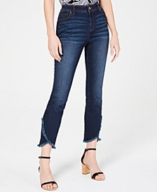 INC Curvy Cropped Tulip-Hem Skinny Jeans, Created for Macy's