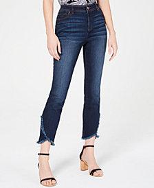 I.N.C. Curvy Tulip-Hem Ankle Jeans, Created for Macy's