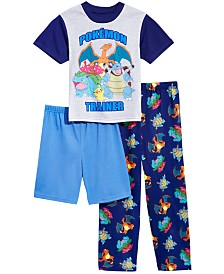 Pokémon Little & Big Boys 3-Pc. Pajama Set