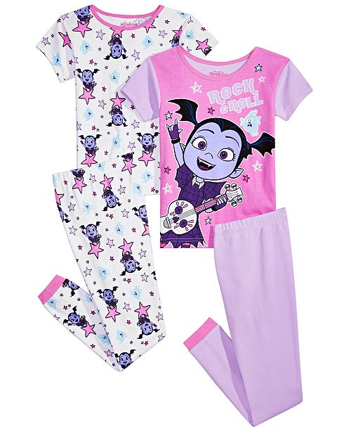 AME Vampirina Little & Big Girls 4-Pc. Vampirina Cotton Pajama Set