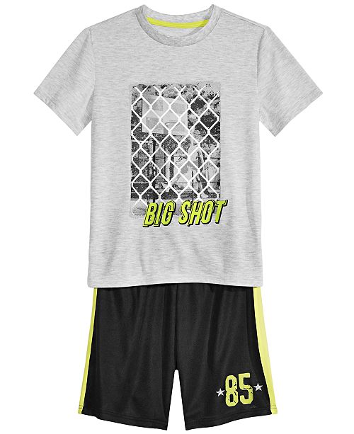 Max & Olivia Big Boys 2-Pc. Big Shot Pajama Set
